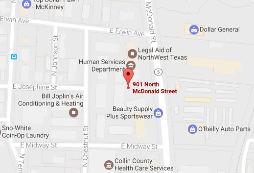 Image of our McKinney location on Google Maps.