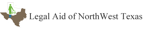 Legal Aid of NorthWest Texas logo.